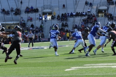 Duke RB Deon Jackson nearly broke this kickoff return in the first half of Thursday's game.