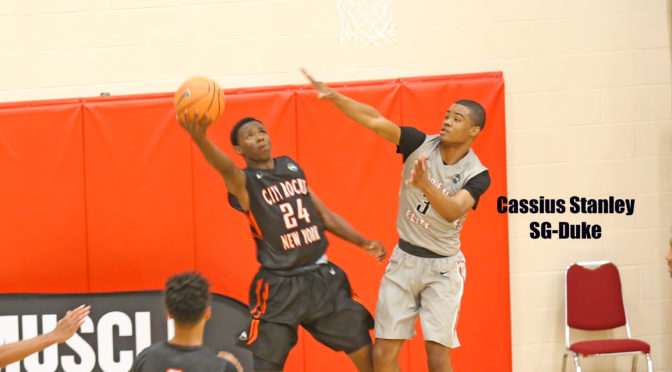 Cassius Stanley goes for blocked shot in the 2016 Nike EBYL.