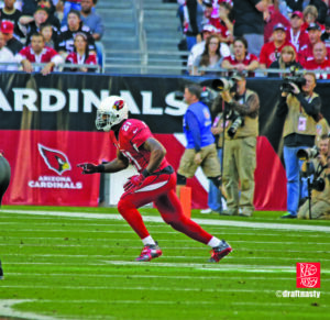 Patrick Peterson going in motion with the Cardinals
